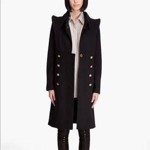 Smythe black military coat gold buttons 4